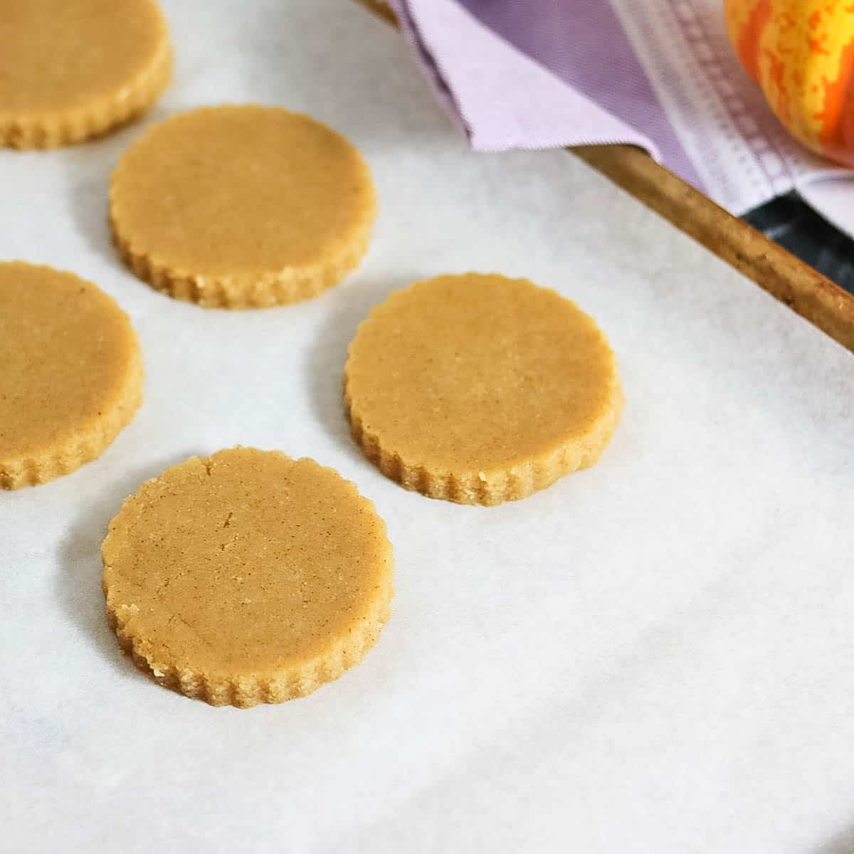 Iced Pumpkin Sugar Cookies (Vegan, Grain-Free)
