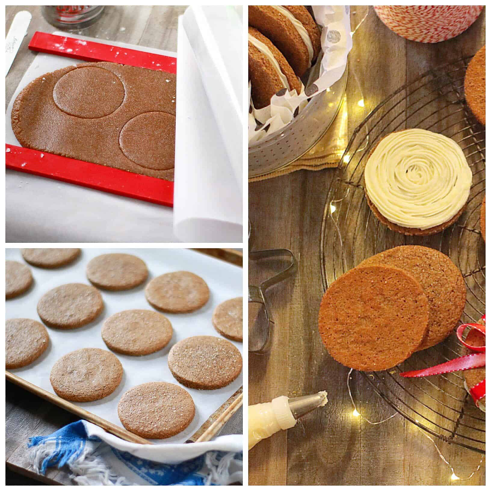 Lemon Gingerbread Sandwich Cookies