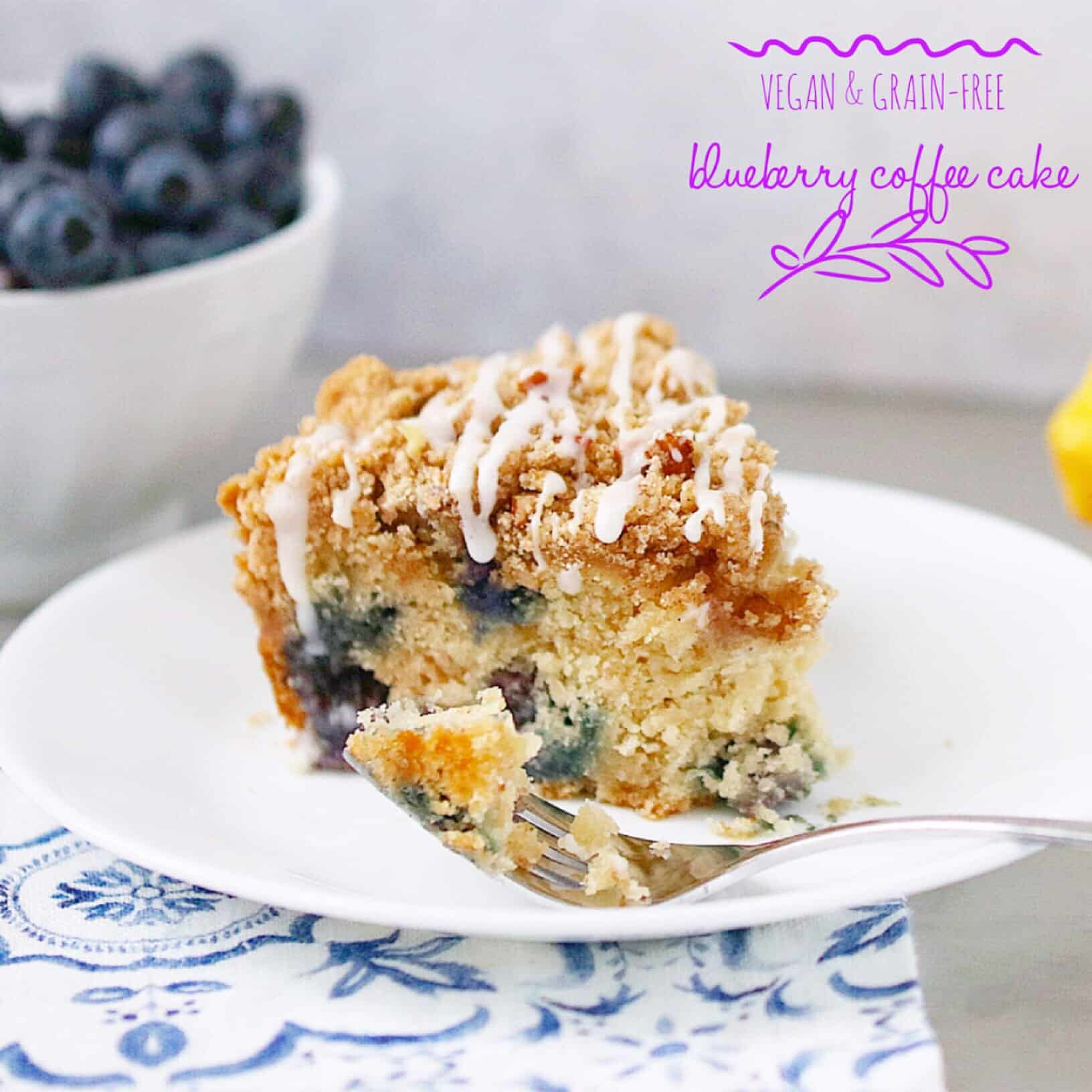 Vegan Blueberry Coffee Cake/Quick Bread
