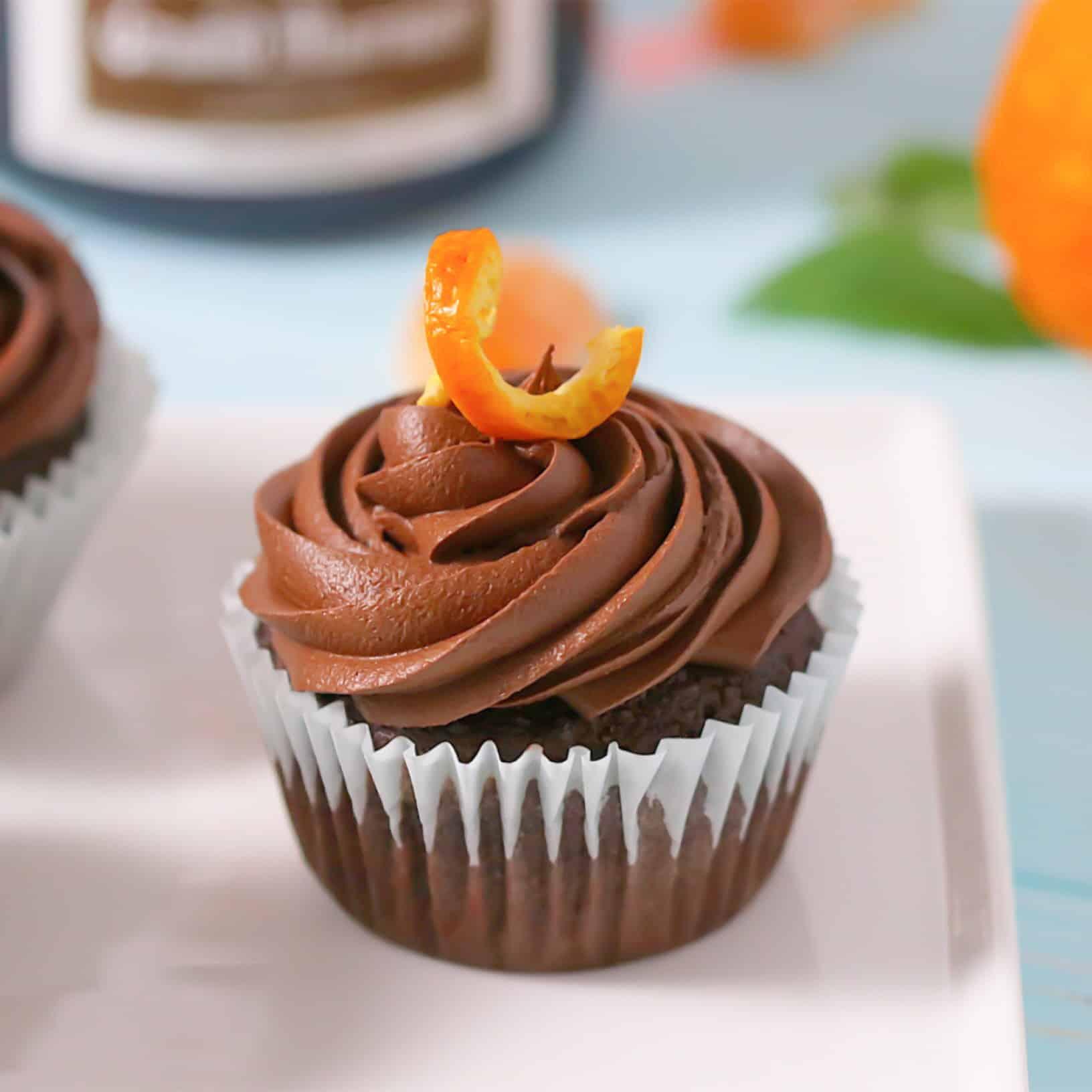 Chocolate Grand Marnier Cupcakes