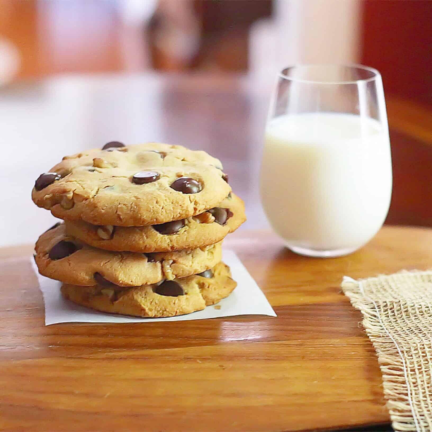 Paleo Chocolate Chip Walnut Cookies - Lila Ruth Grain Free