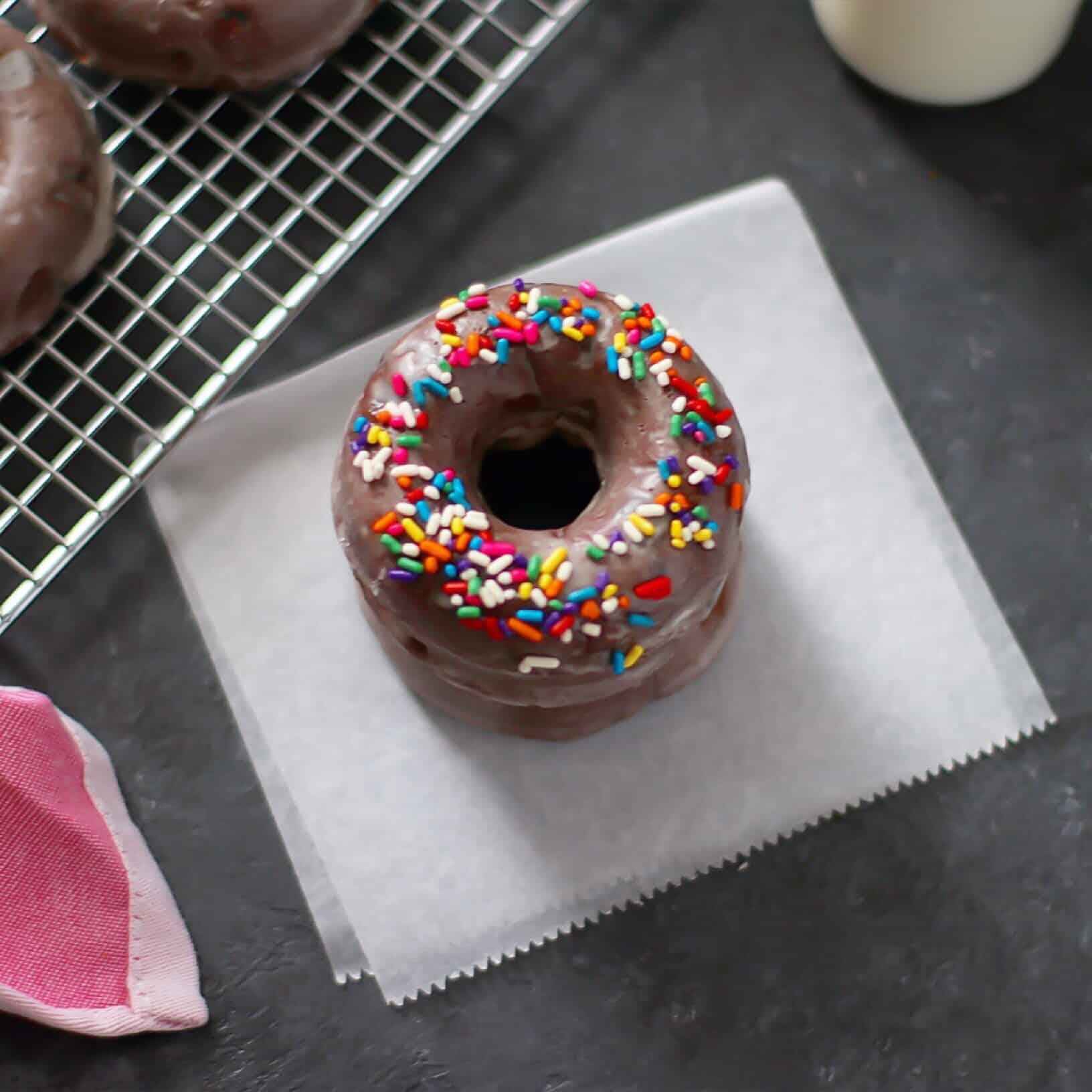 Double Chocolate Cake Donuts - Lila Ruth Grain Free
