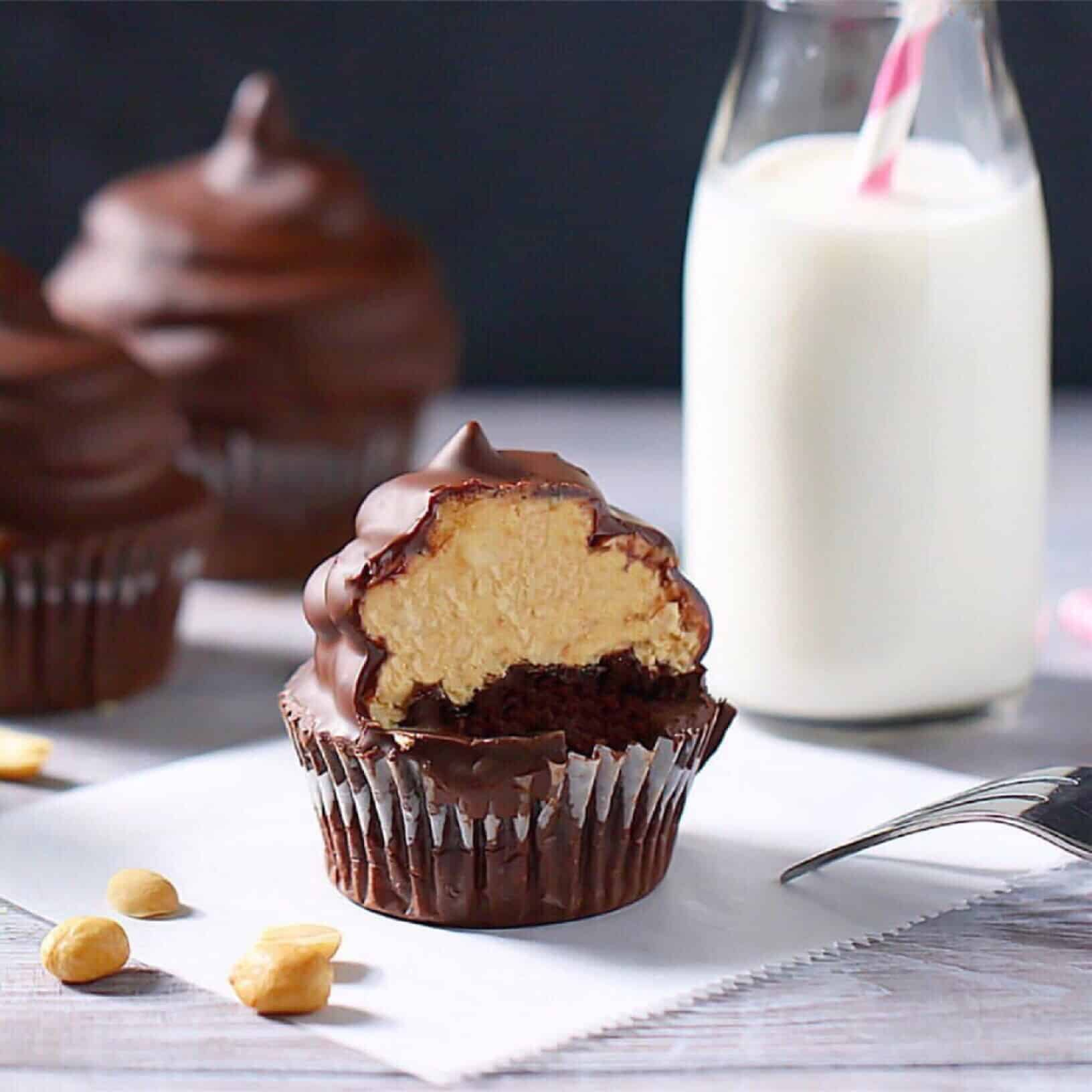 Peanut Butter Dream Cupcakes