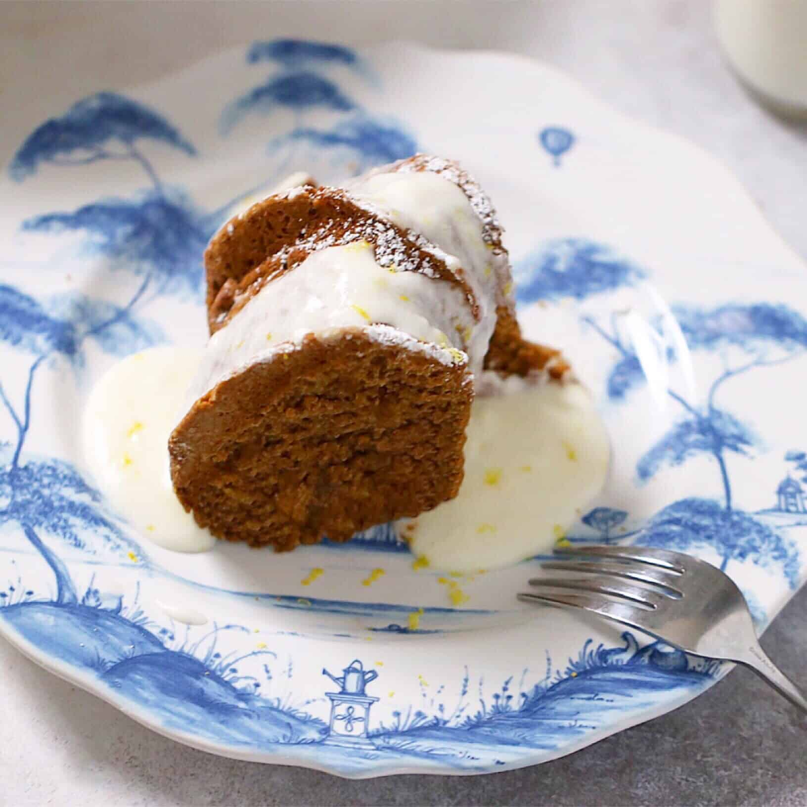 Grain-Free Molasses Cake with Lemon Frosting
