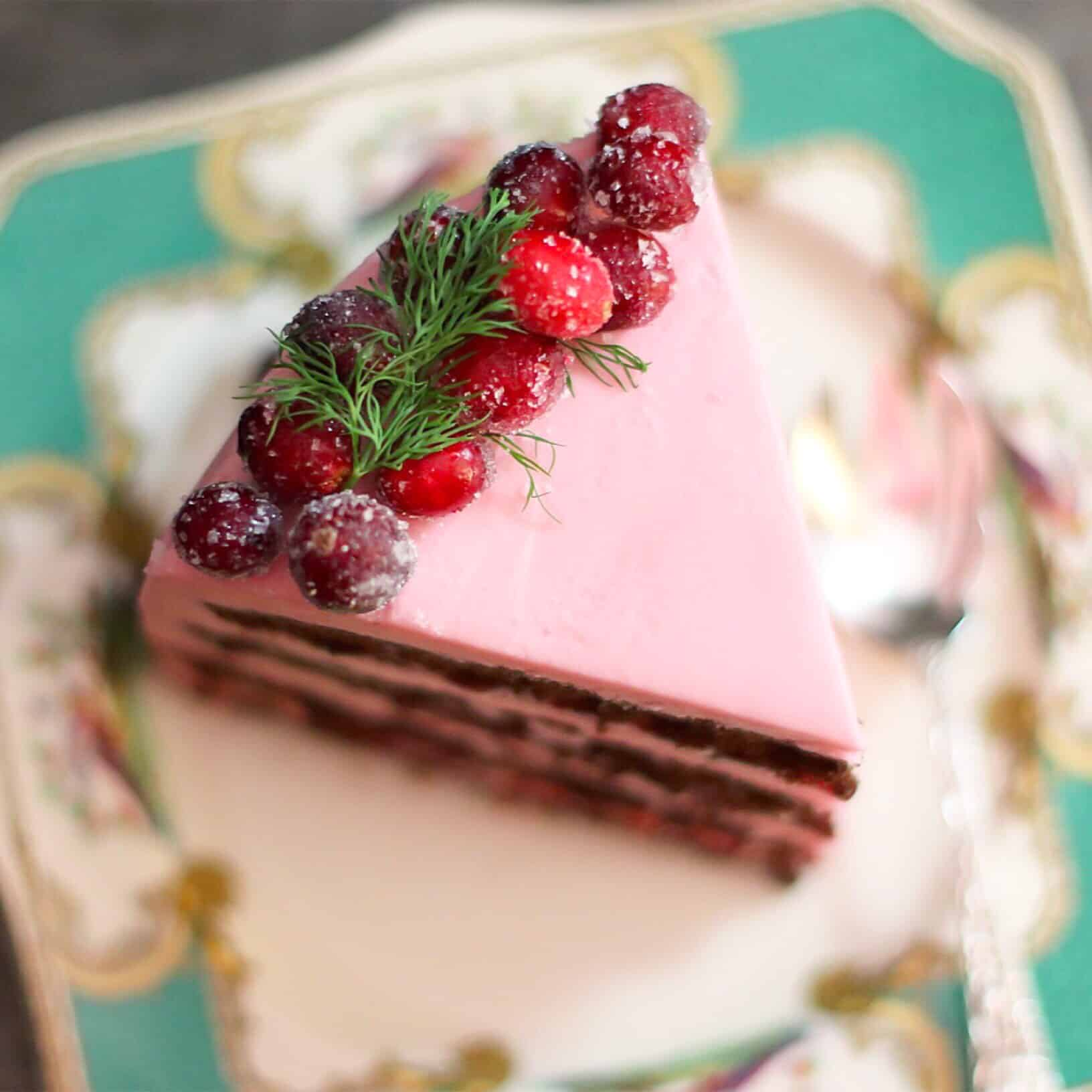 GF Choc Cran Cherry Cake dreamy
