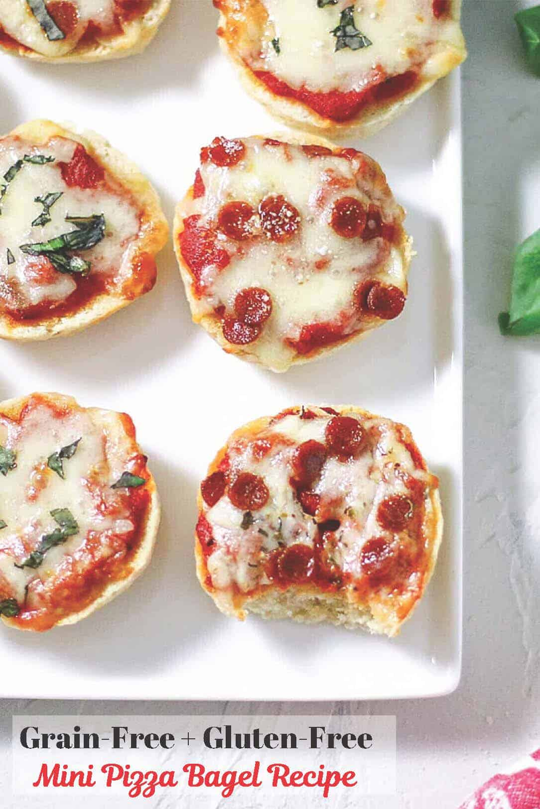 Grainless mini pizza bagels