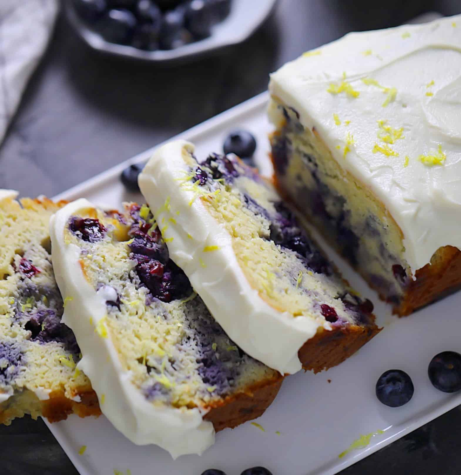 cut blueberry loaf