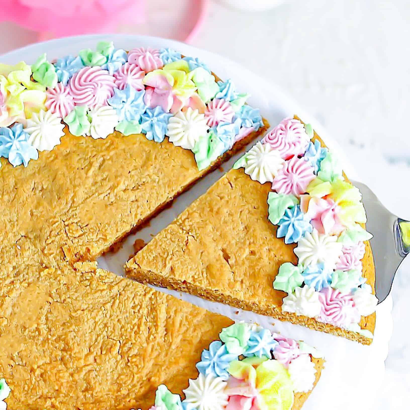 Keto + SCD Peanut Butter Cookie Cake