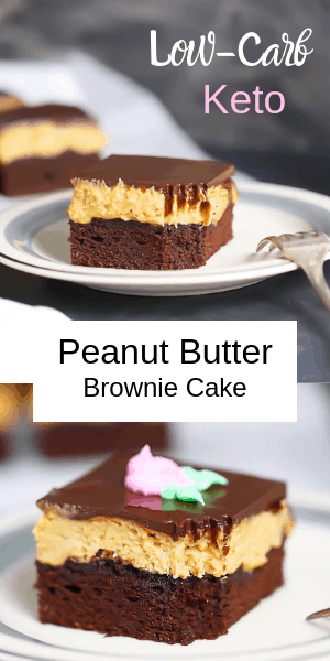 Keto Peanut Butter Brownie Cake Pin