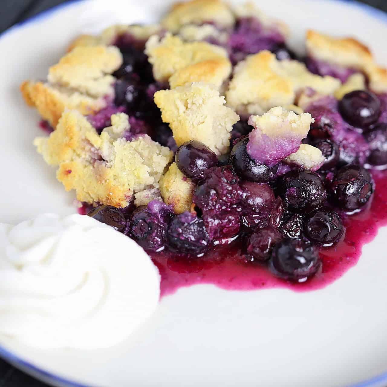 paleo + scd blueberry cobbler