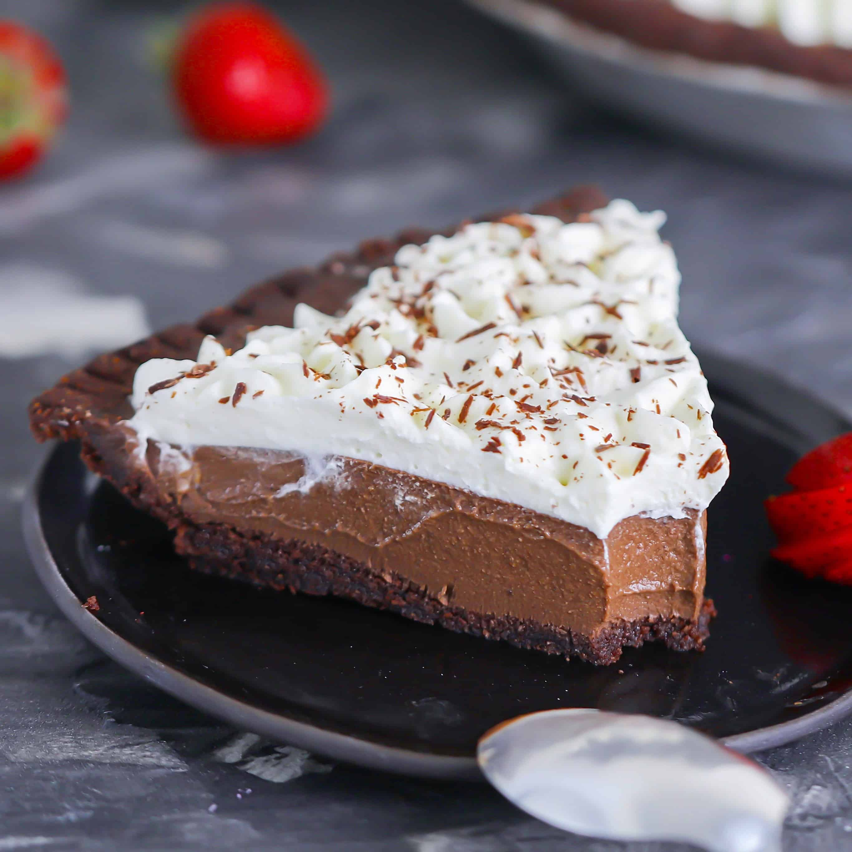 Low-Carb Chocolate Cream Pie