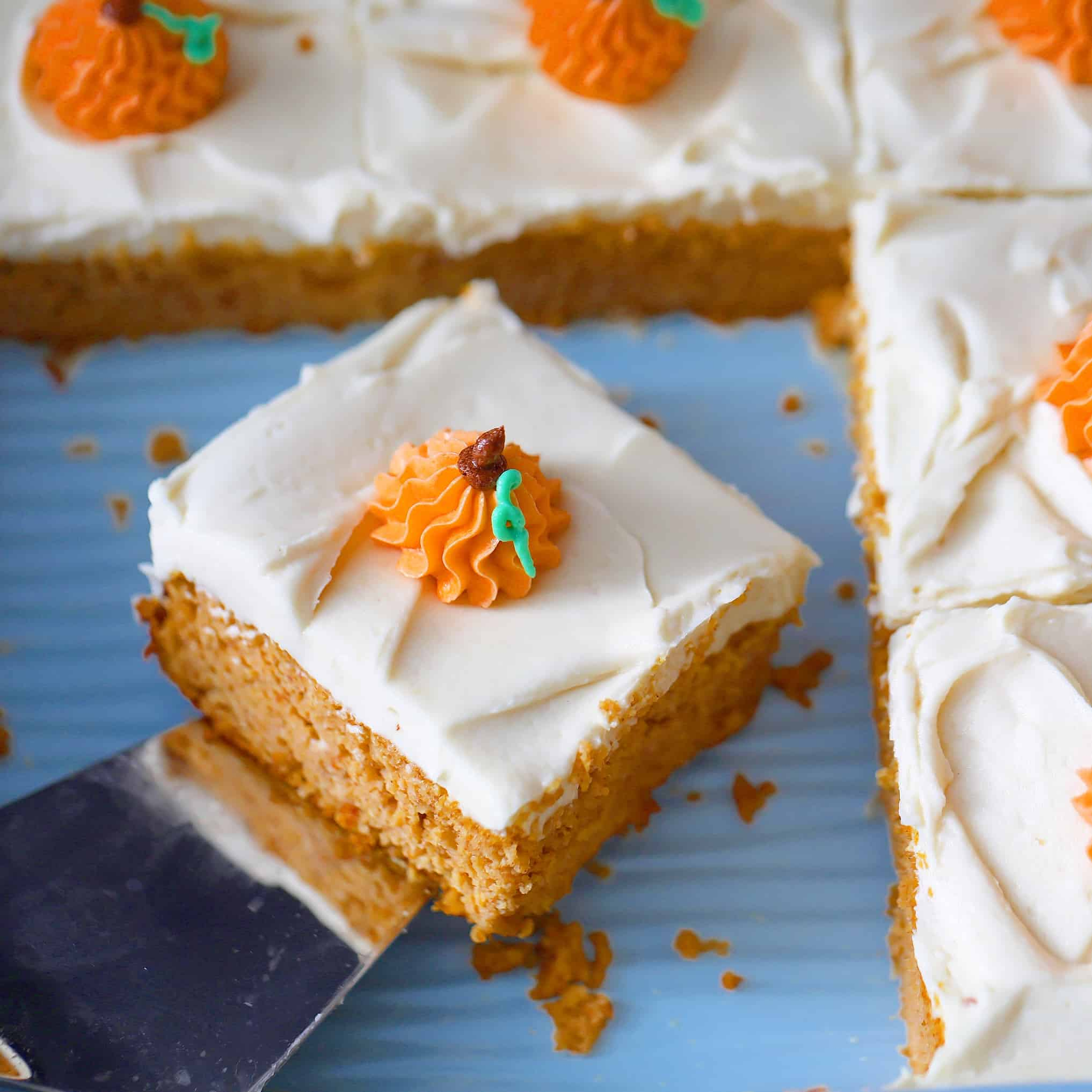 iced pumpkin cake, low-carb