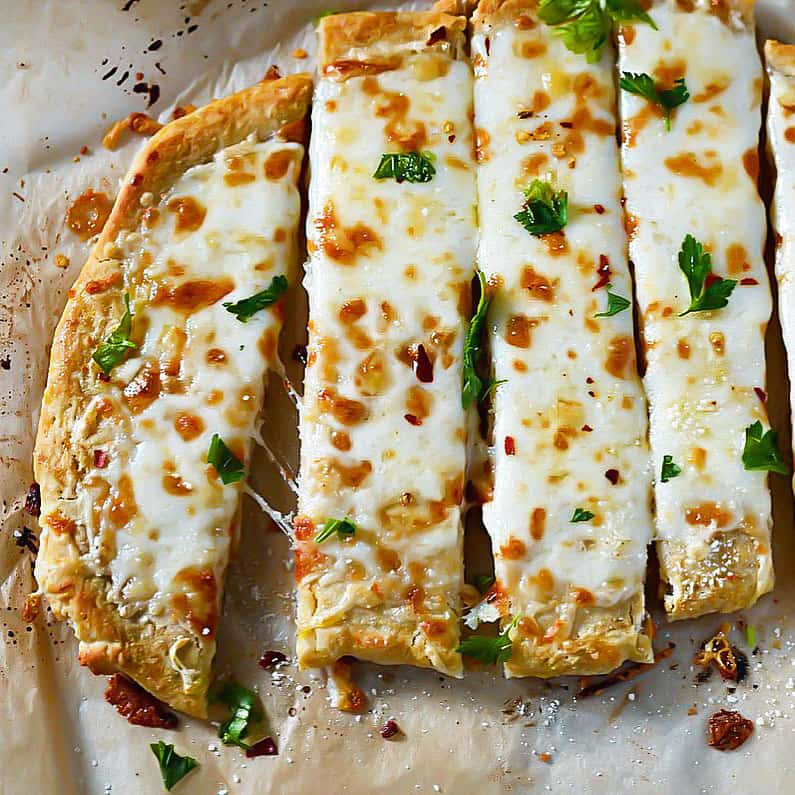 Cheesy Breadsticks (Vegan Option)