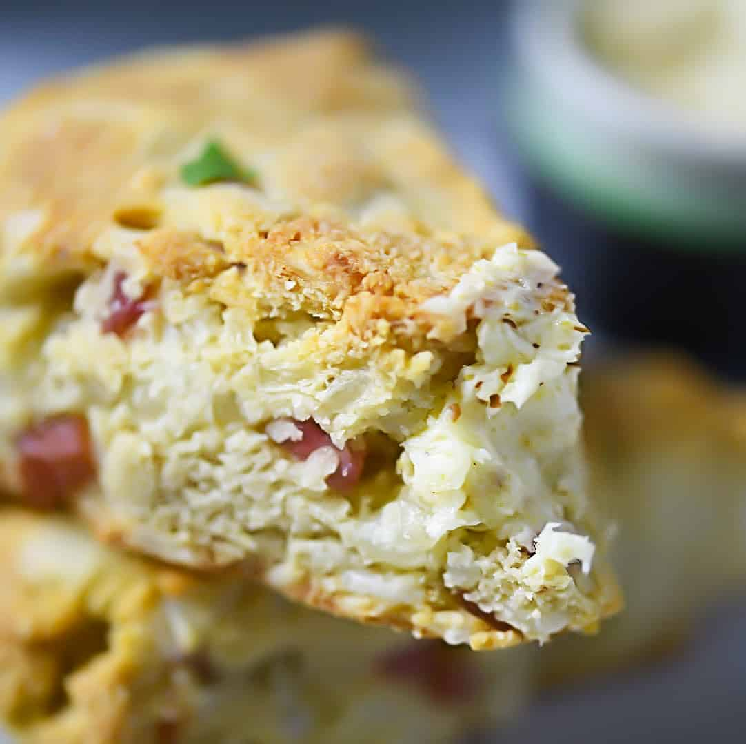 SCD Ham + Cheese Scones with Dijon Butter