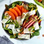 Winter Salad with toasted almonds