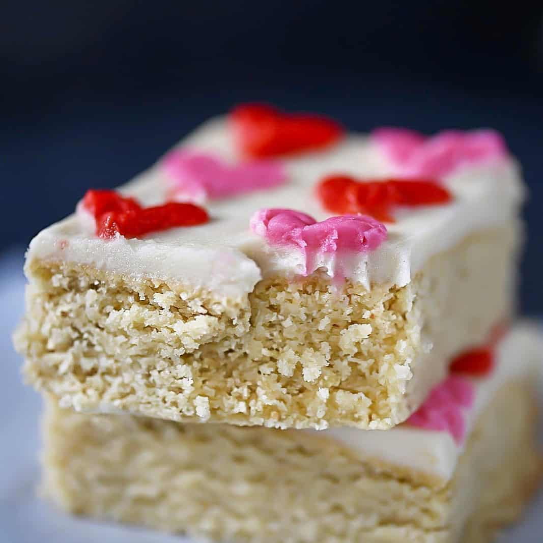 Low-Carb, SCD Sugar Cookie Bars up close