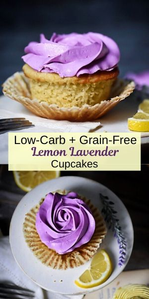 Lemon Lavender Cupcake Pin