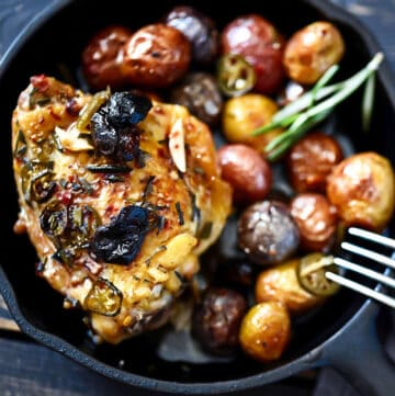 Rustic Chicken Overhead Photo
