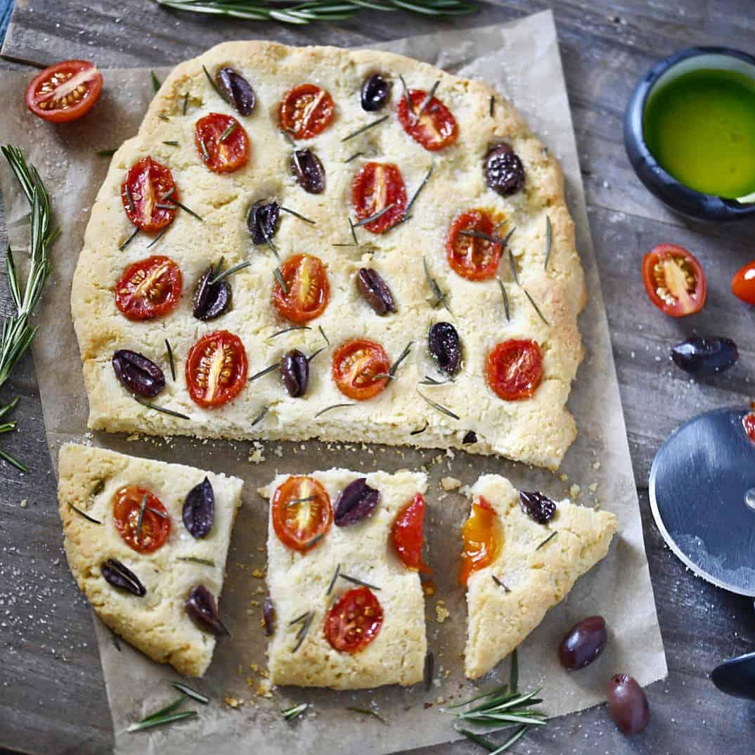 Grain-Free + Vegan Focaccia Bread
