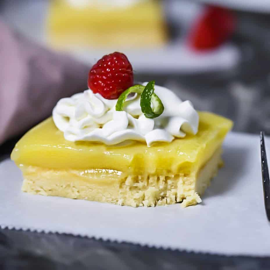 SCD Lemon Squares w/ coconut cream