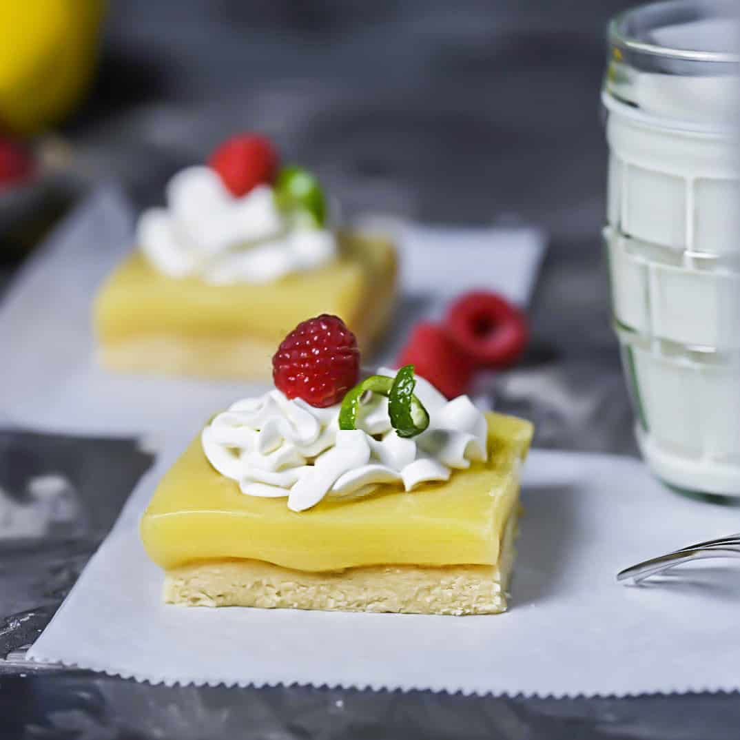 SCD Lemon Squares With Raspberries