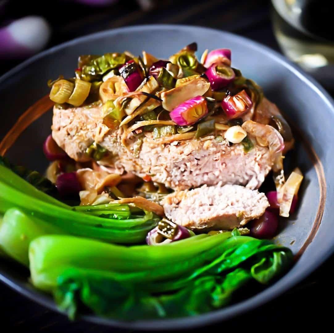 Pork with Bok Choy, Roasted