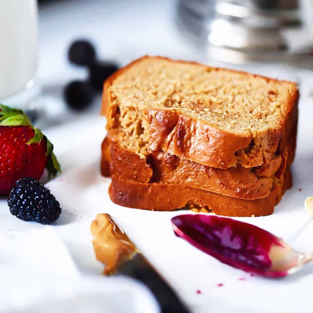 SCD Peanut Butter Quick Bread With Jam