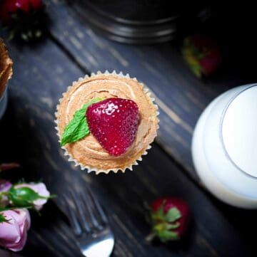 muffin with almond butter and jam