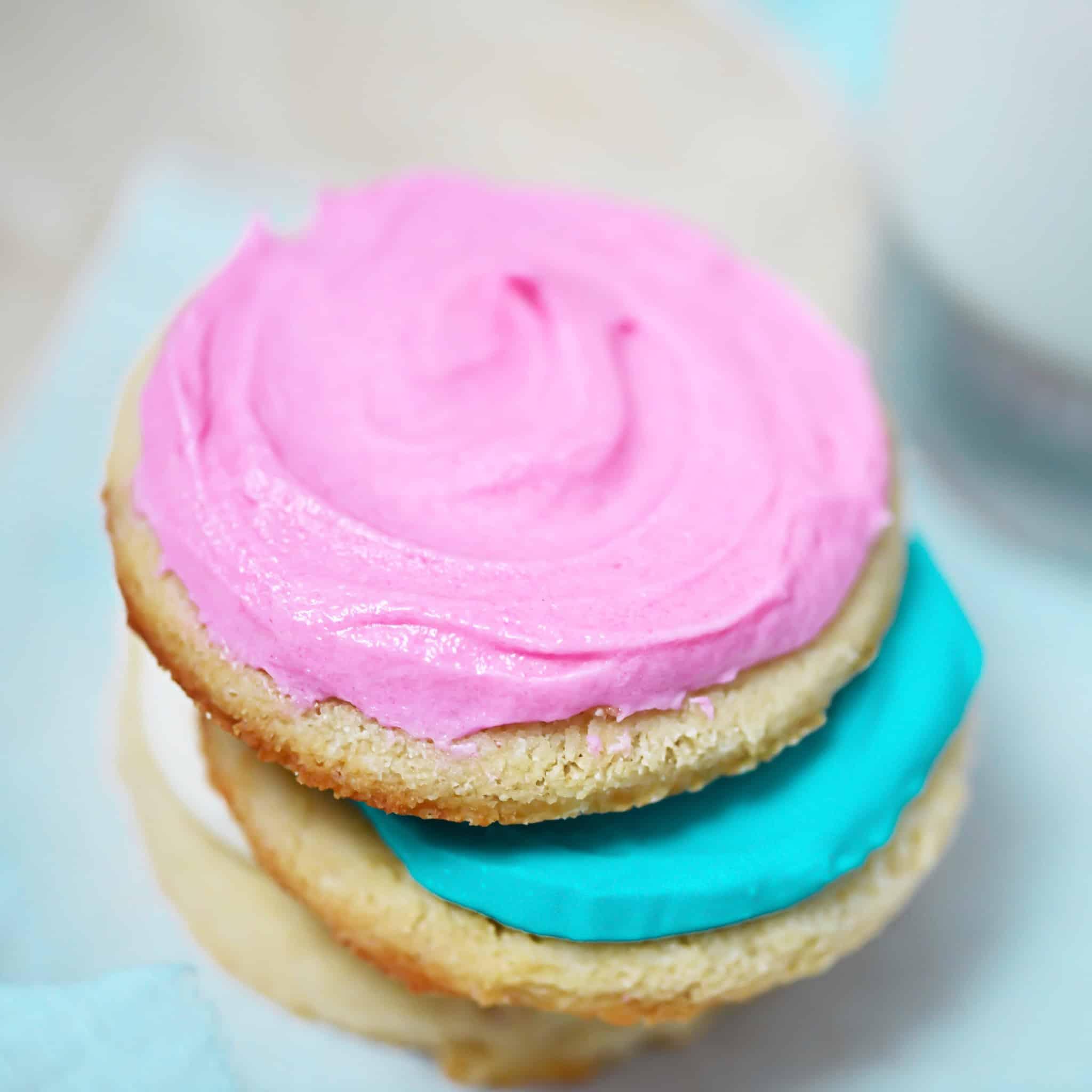Pink Keto Sugar Cookies