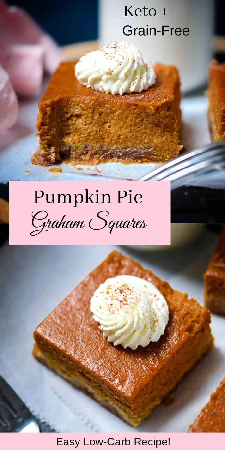 Keto Pumpkin Pie Square Pin