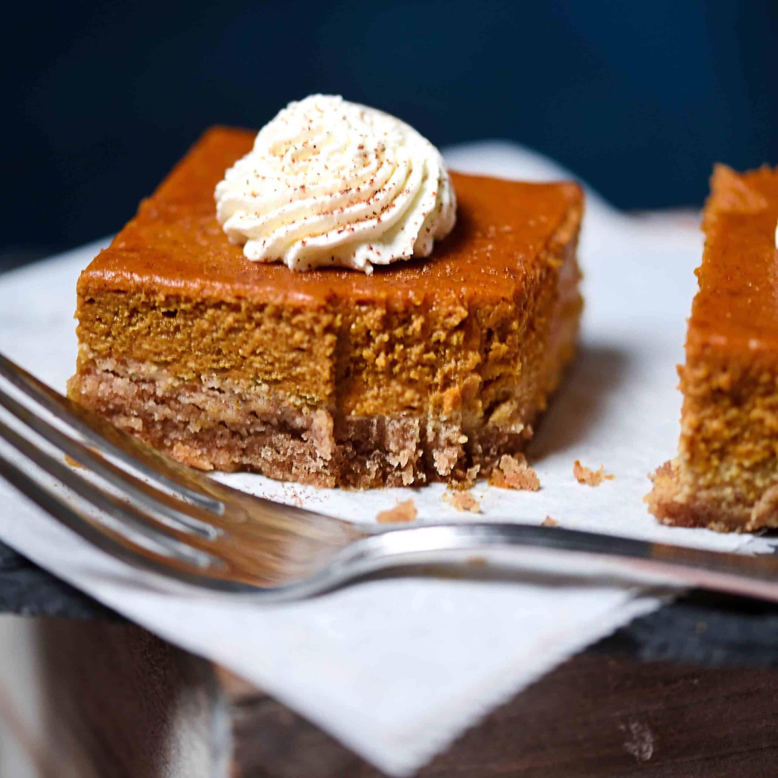 Keto Pumpkin Pie Graham Squares, Gluten-Free
