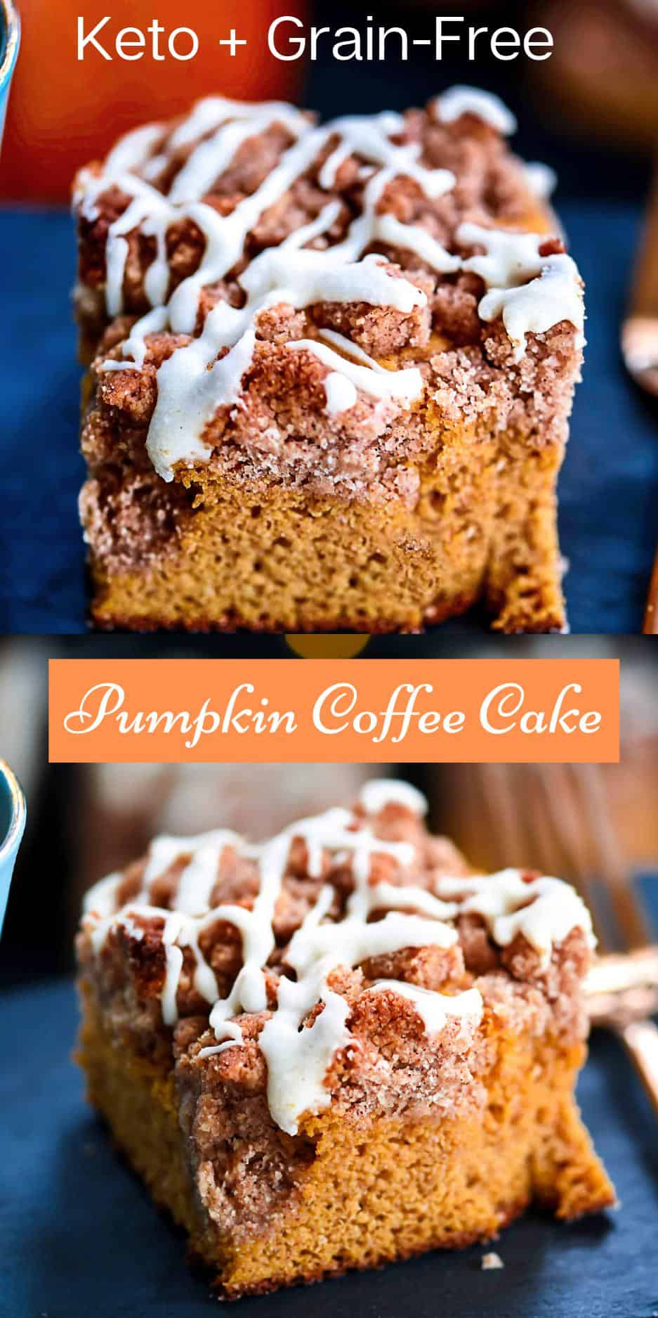 Pinterest Pin Keto Pumpkin coffee Cake