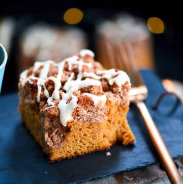 Low-Carb Pumpkin Cake on slate