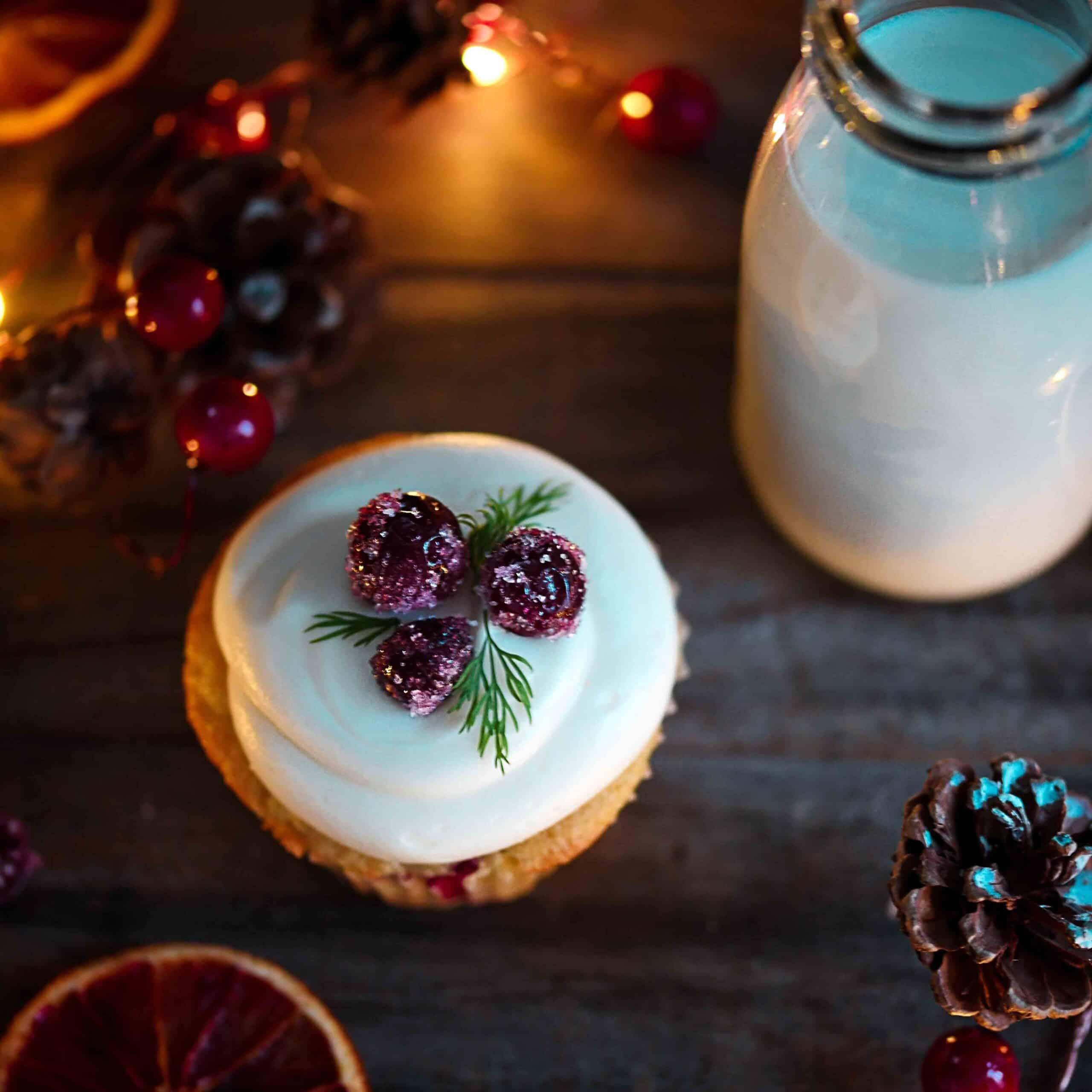 Dairy-Free Cran-Orange Cupcakes