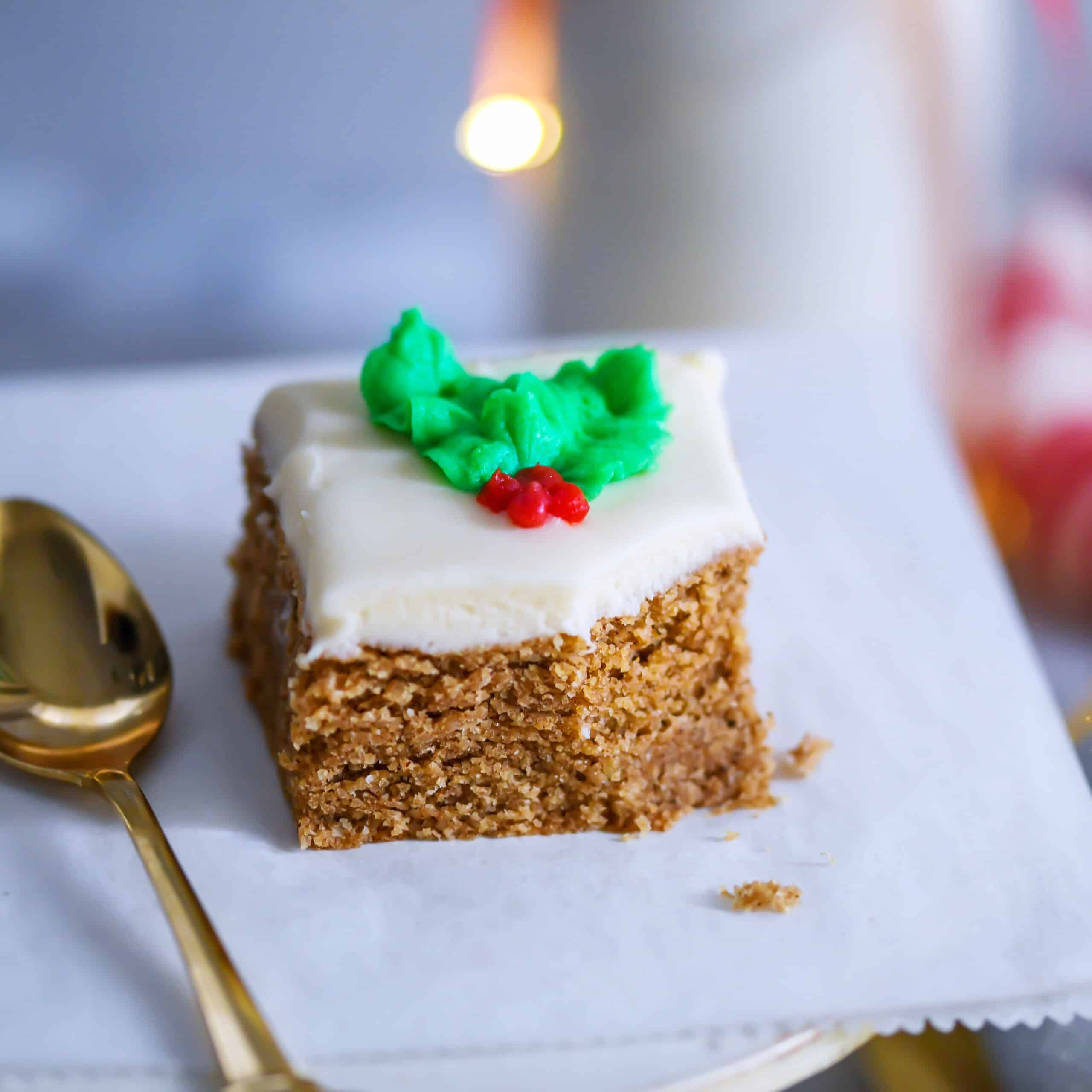 Gingerbread Brownies With Cream Cheese Frosting