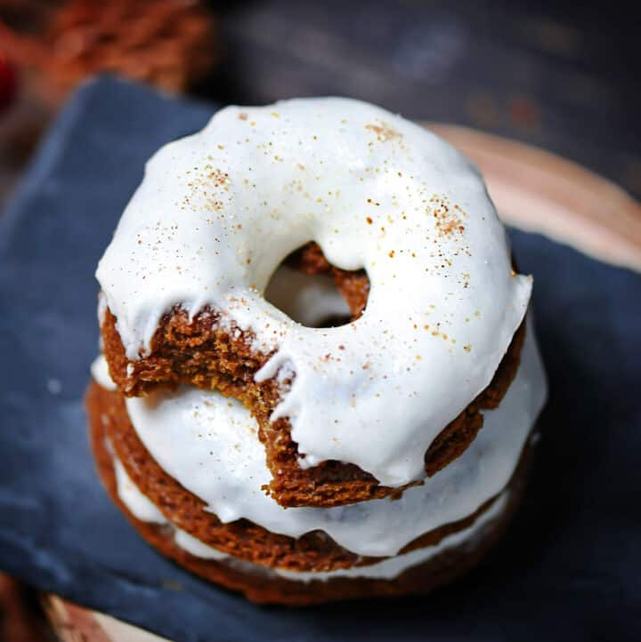 soft baked vegan cake donuts