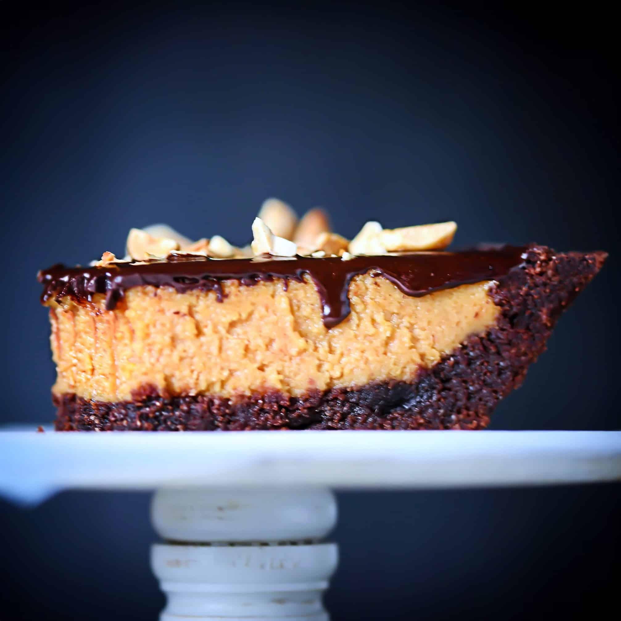 grain-free slice keto peanut butter pie