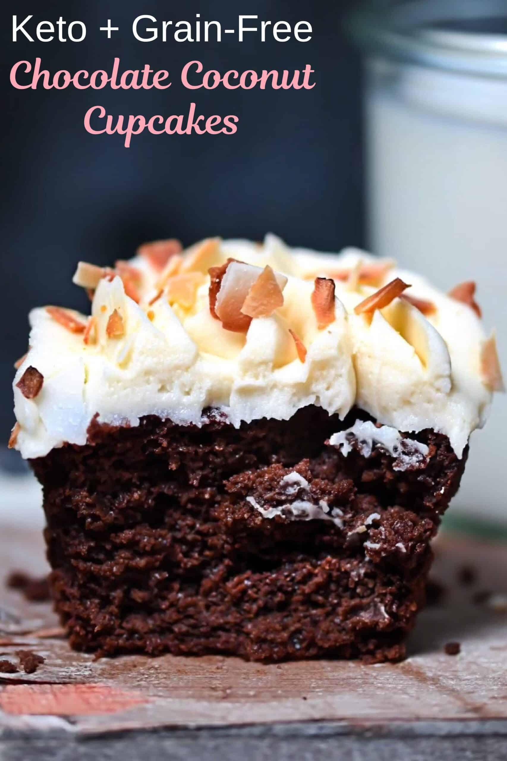 Keto Coconut Cupcake Pin