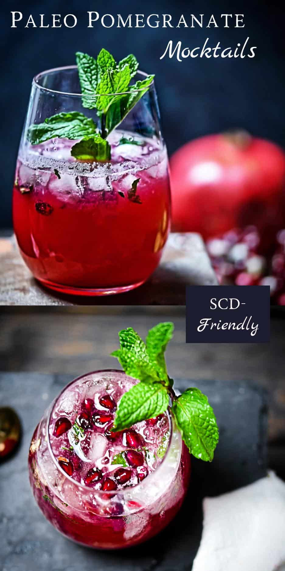 Lime Mint Pomegranate Mocktail