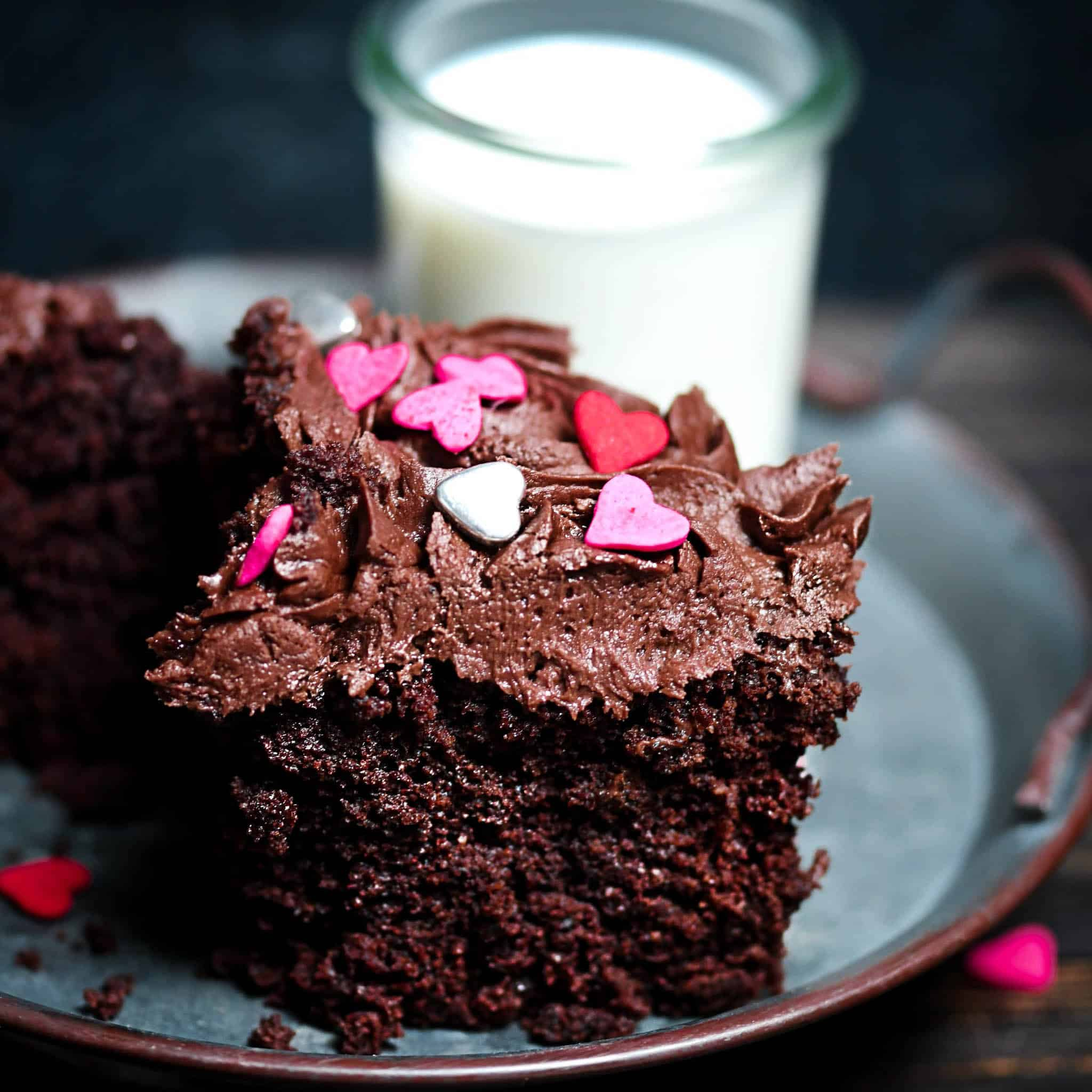Frosted Keto Chocolate Microwave Cake