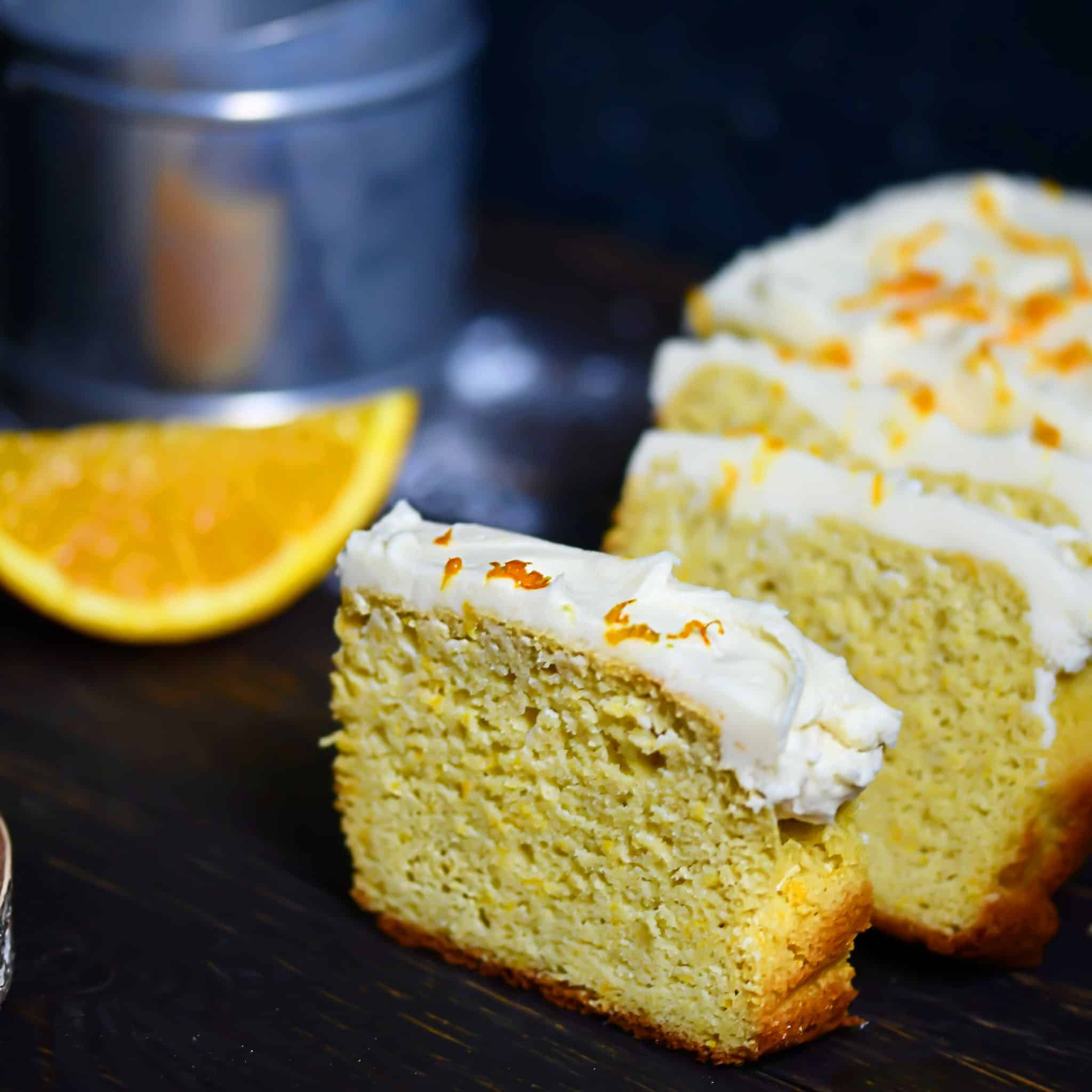 Frosted Keto Orange Loaf
