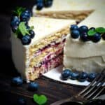 Keto Lemon Blueberry Compote Cake