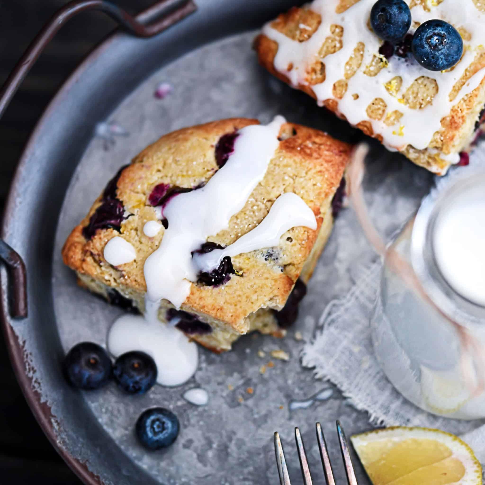 Delicious Lemon Blueberry Scones Dairy-Free