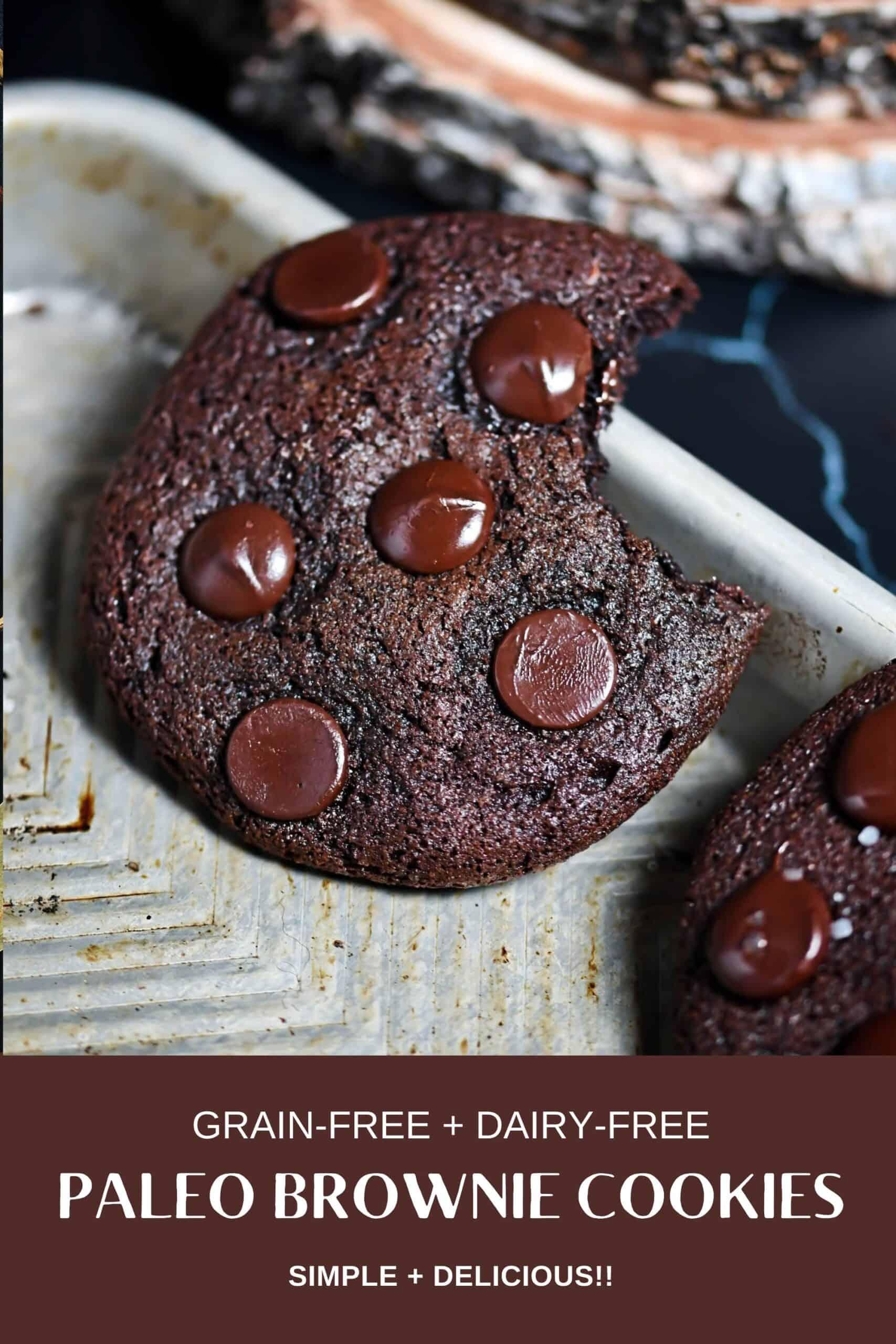Paleo Brownie Cookie Pinterest Pin