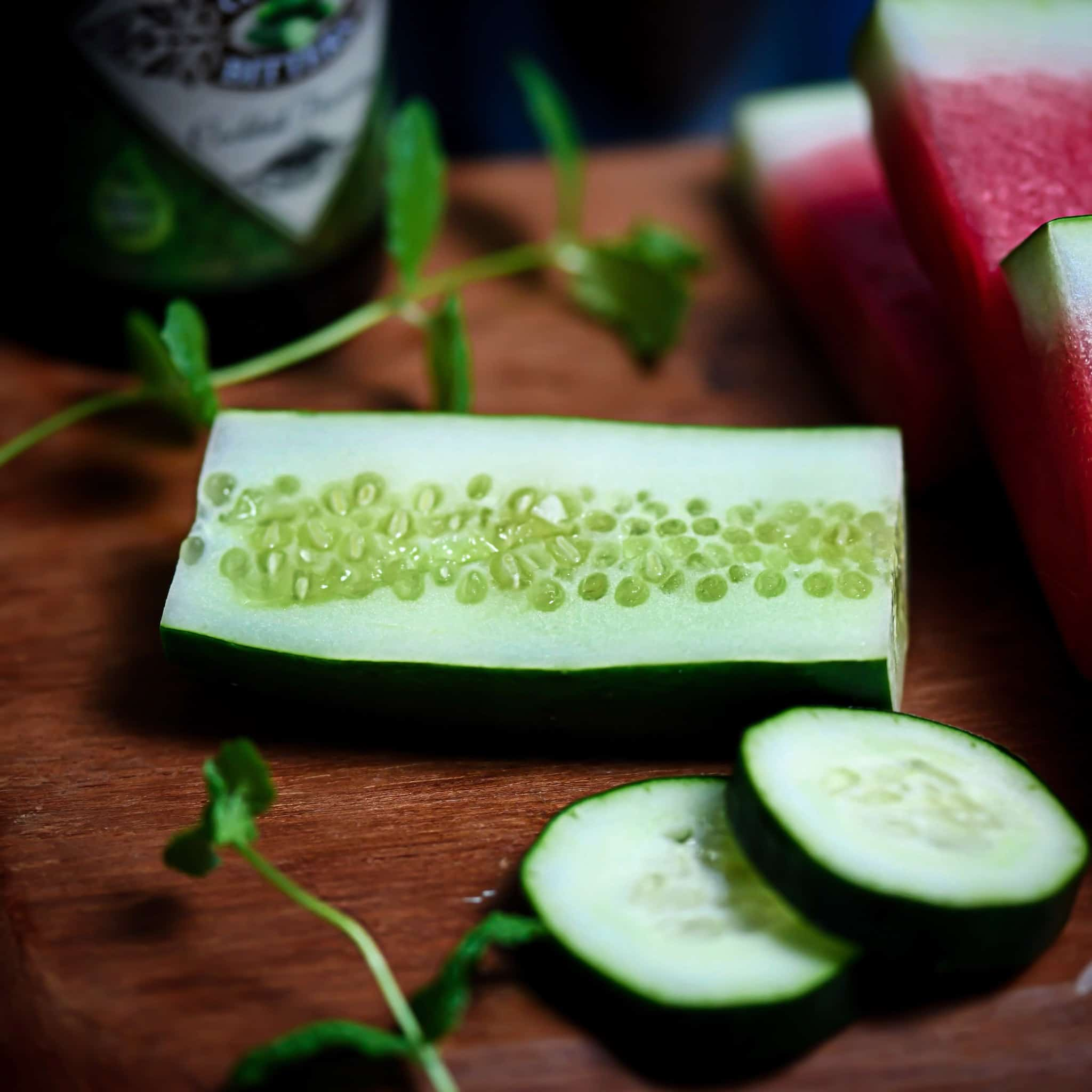 Cucumber Slices for summer cocktail